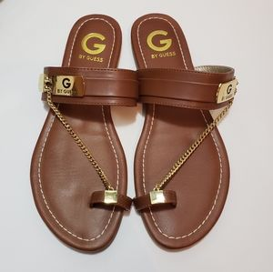 G by Guess toe chain sandal.